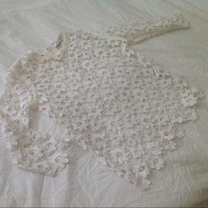 Sandro Paris Lace Crochet knit dress short top S